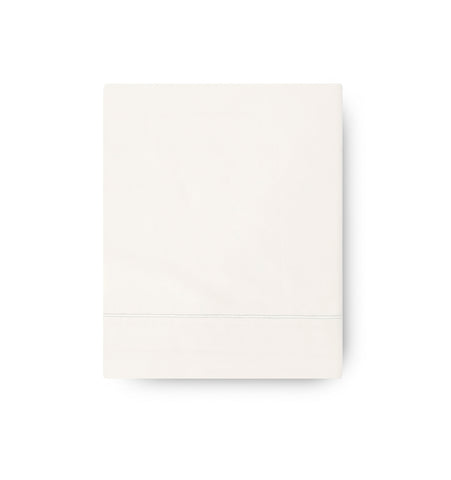 Amalia 430TC Sateen Flat Sheet With Satin Stitch - The Modern Farmhouse