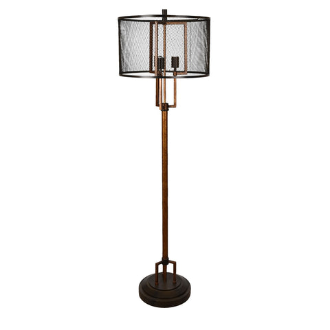 "Crestview Collection CVAER936 Iron Winchester Floor Lamp , 62""H - The Modern Farmhouse"