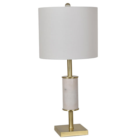 "Crestview Collection CVAVP613 Marble & Metal Maxwell Table Lamp , 28""H - The Modern Farmhouse"