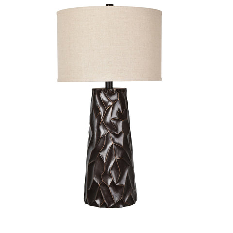 "Crestview Collection CVAVP666 Resin Bronze Finish Huston Table Lamp , 35""H - The Modern Farmhouse"