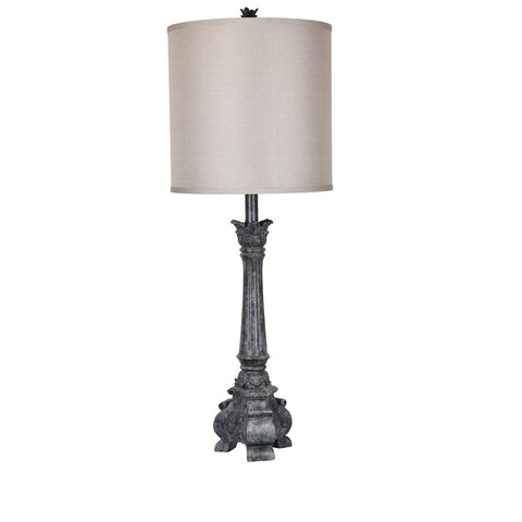 "Crestview Collection CVAVP670 Antique Black Finish Noura Table Lamp , 41""H - The Modern Farmhouse"