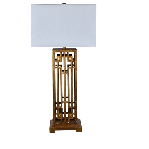 "Crestview Collection CVAVP681 Resin Gold Leaf Finish Montgomery Table Lamp , 36""H - The Modern Farmhouse"