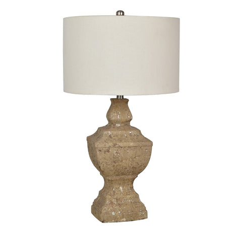 "Crestview Collection CVAVP771 Weathered Stone Finish Stone County Table Lamp , 29.5""H - The Modern Farmhouse"