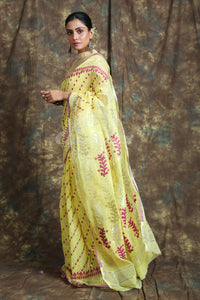 Allover Rich Weaving Yellow Jamdani Saree