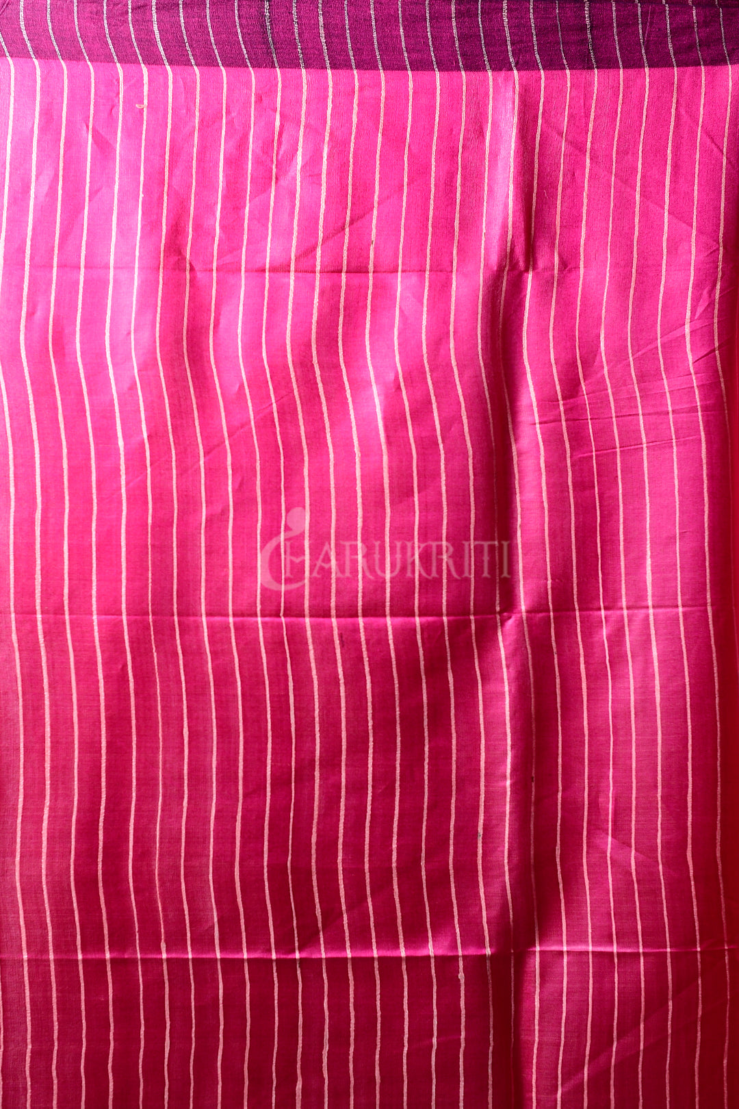 PINK GHEECHA SAREE WITH PEARL PINK PALLU