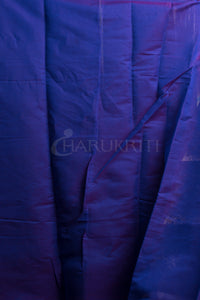ROYAL BLUE BENARAS HANDLOOM WITH ZARI BORDER