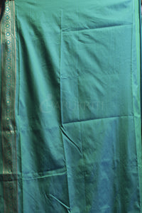 LAPIS BLUE KATAN SILK DUAL TONE BORDER AND ZARI PALLU