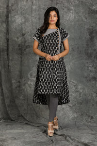 Ikkat Textured Cotton Kurti