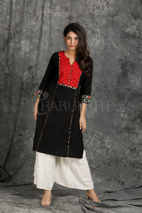 Kantha Stitched Kurti with Front Border