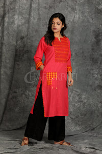 Cotton Kurti with Front Pockets - Charukriti