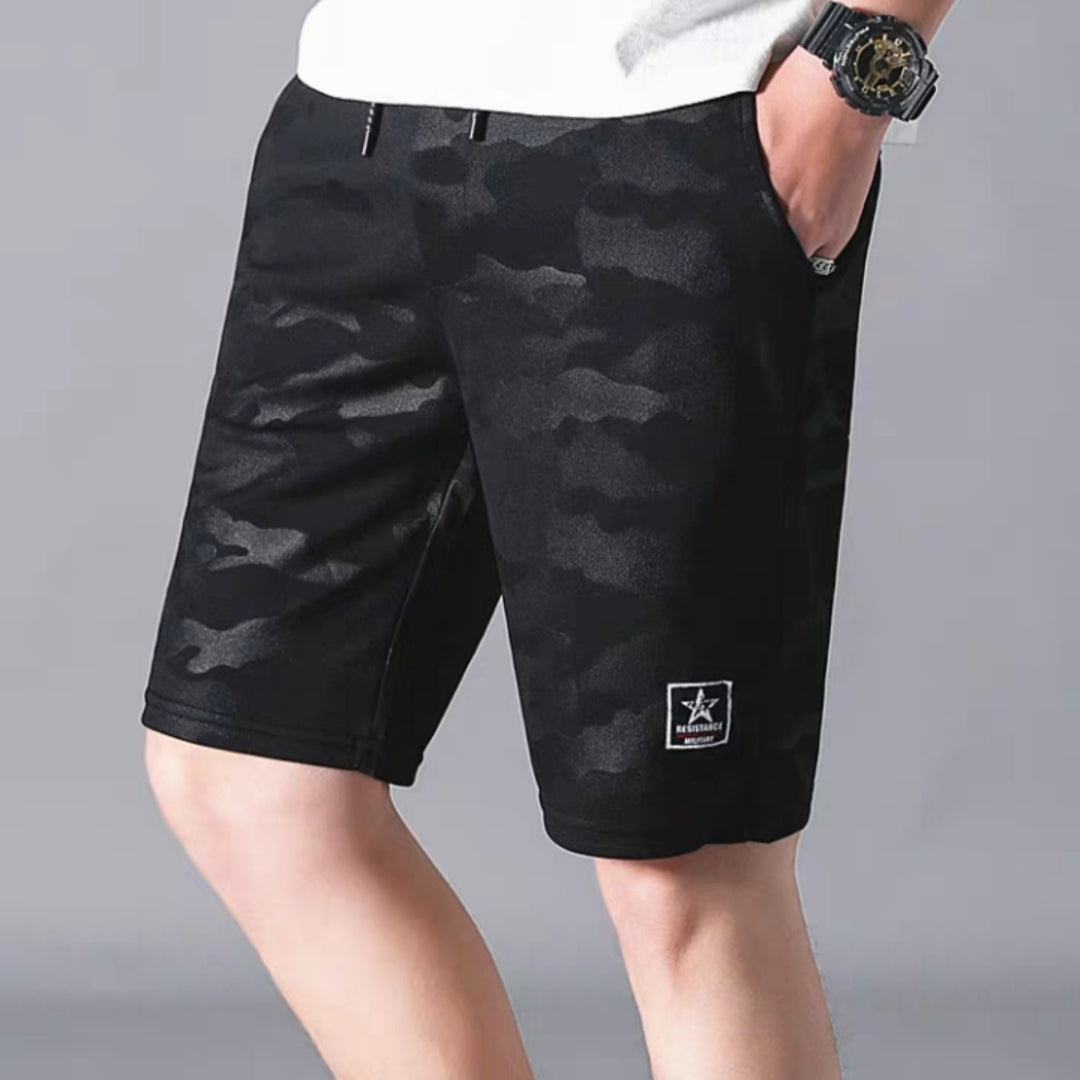 *Up to 56 inches* Camo Elastic Shorts