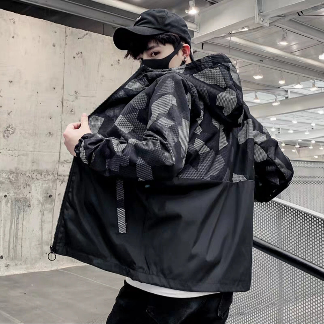 *Up to 140Kg* Camo Bomber Jacket