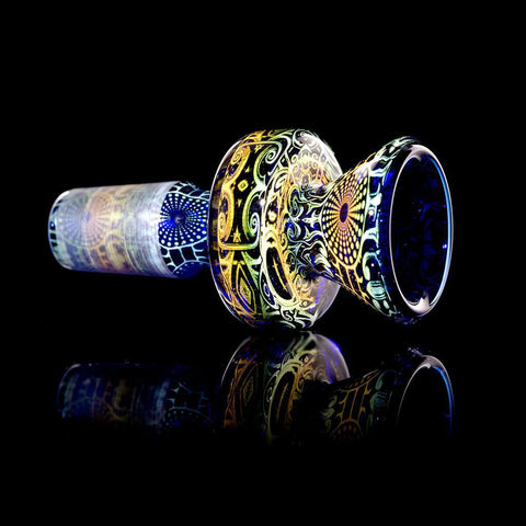 "Mothership - 14mm Blue ""The Exile"" Flower Slide"