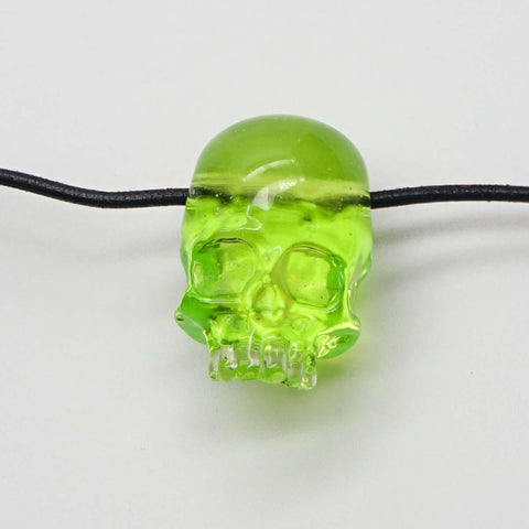 Akio - Slyme Green Skull with Opal Pendant