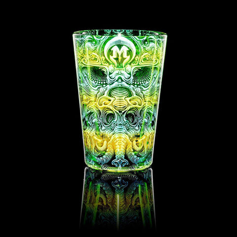 "Mothership - Green ""Strange Deities"" Shot Glass"