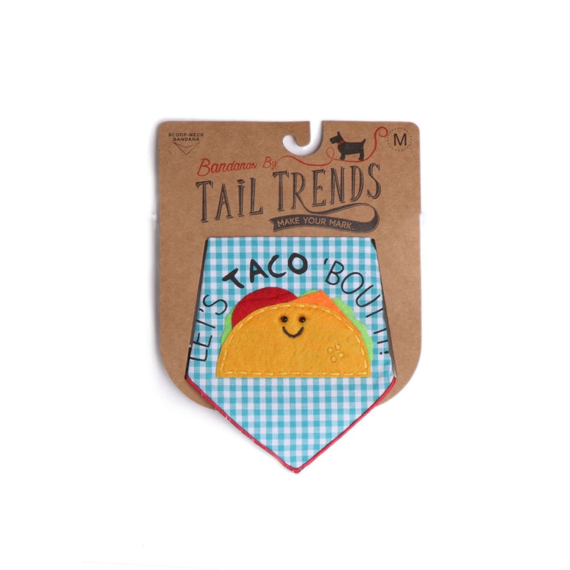 Tail Trends LETS TACO BOUT IT Bandana Large