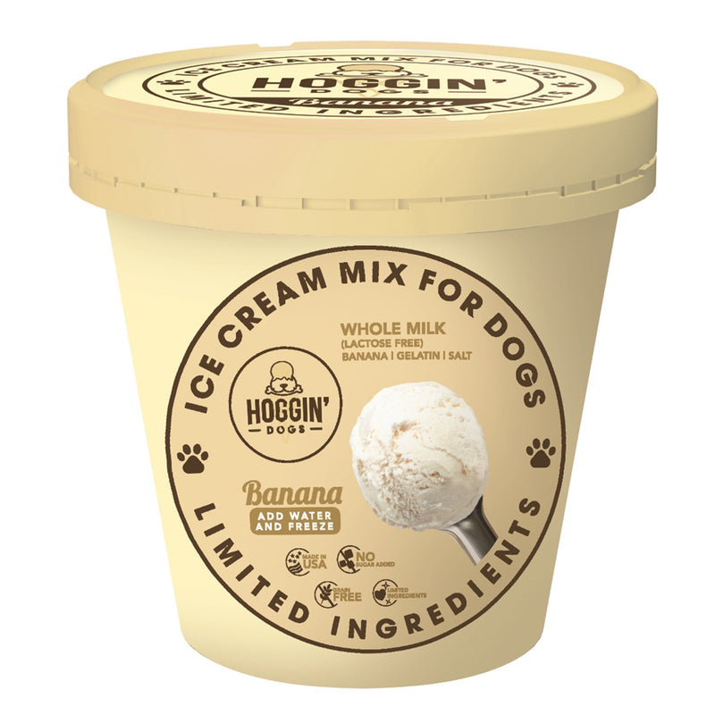 Hoggin' Dogs Ice Cream Mix - Banana 16oz