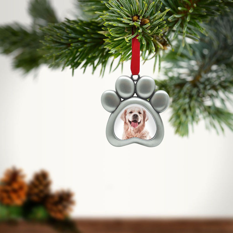 Pearhead Paw Print Holiday Ornament