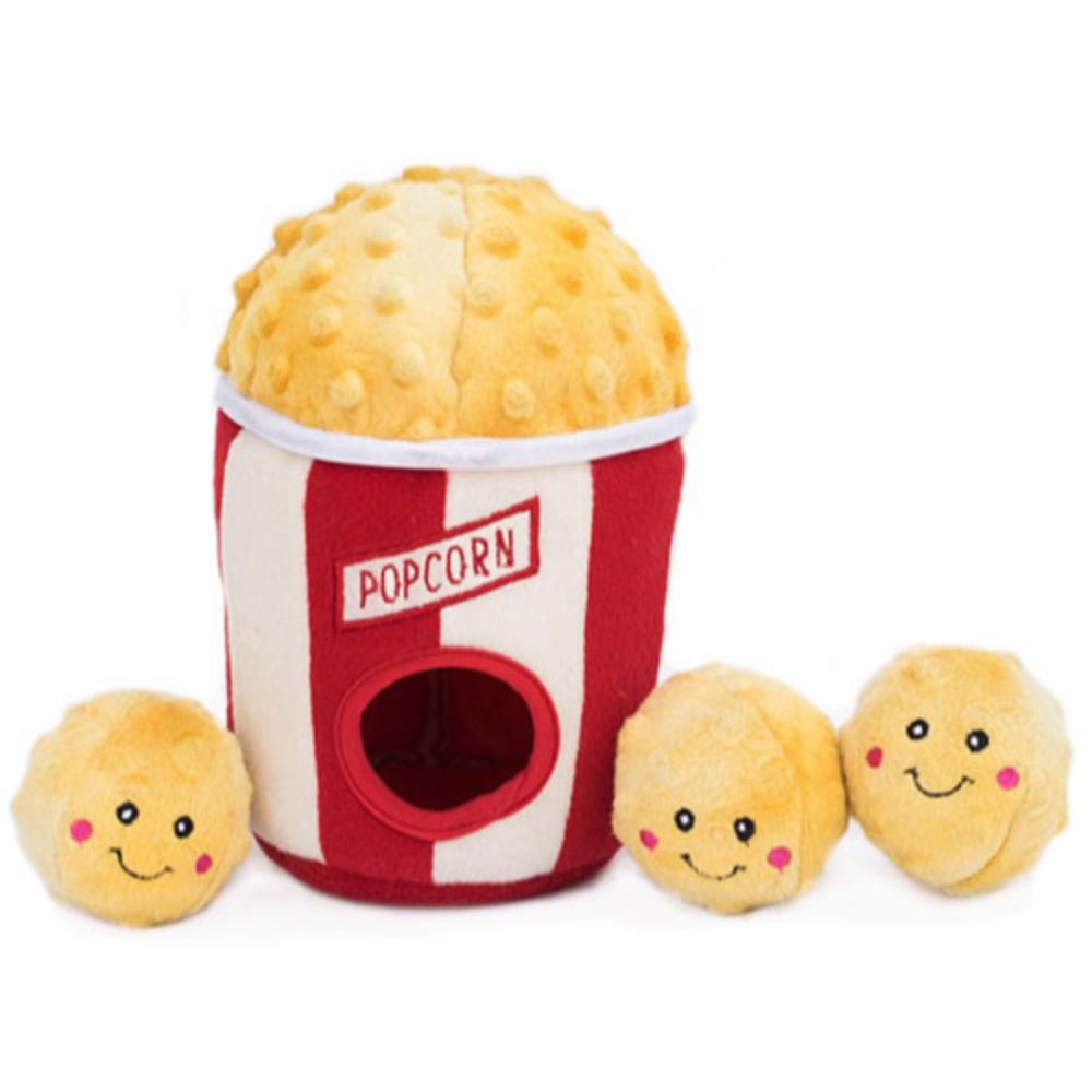 ZippyPaws Popcorn Bucket - Food Buddies Zippy Burrow