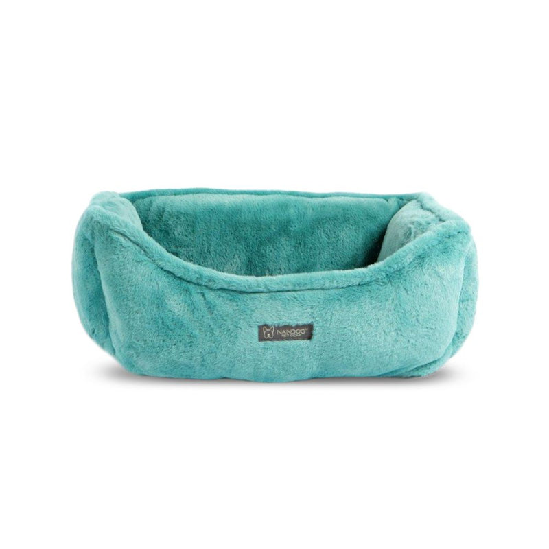 Nandog Cloud Reversible Teal Dog Bed