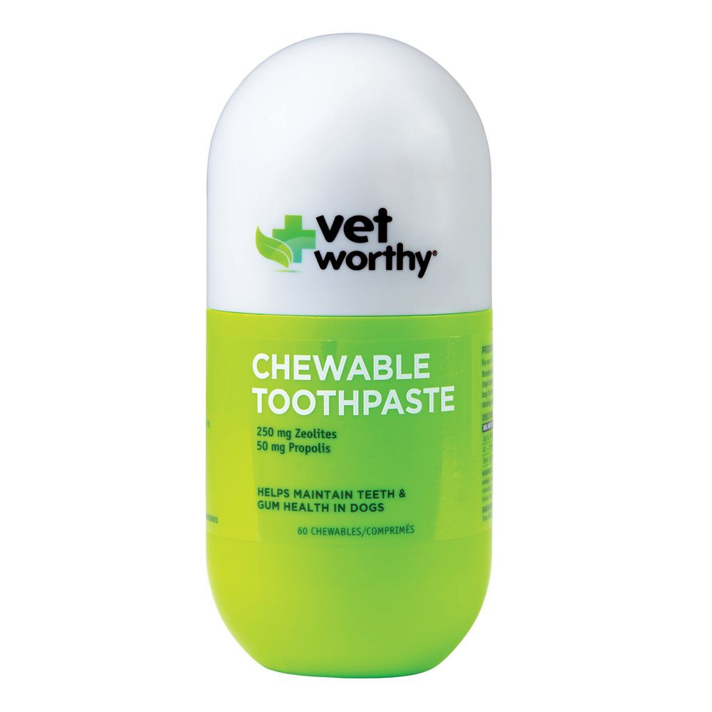 Vet Worthy Chewable Toothpaste (60 tablets)