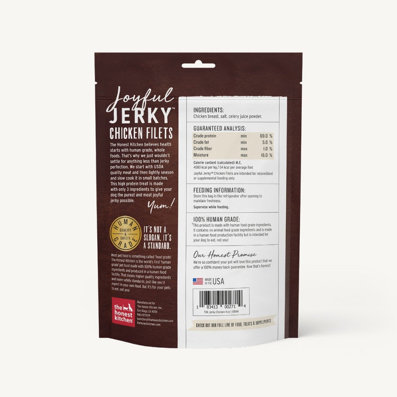 The Honest Kitchen JOYFUL JERKY® - CHICKEN FILETS - 4oz