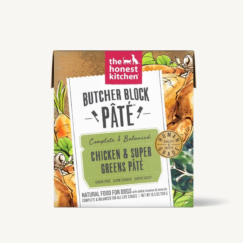 The Honest Kitchen BUTCHER BLOCK PÂTÈ - CHICKEN & SUPER GREENS