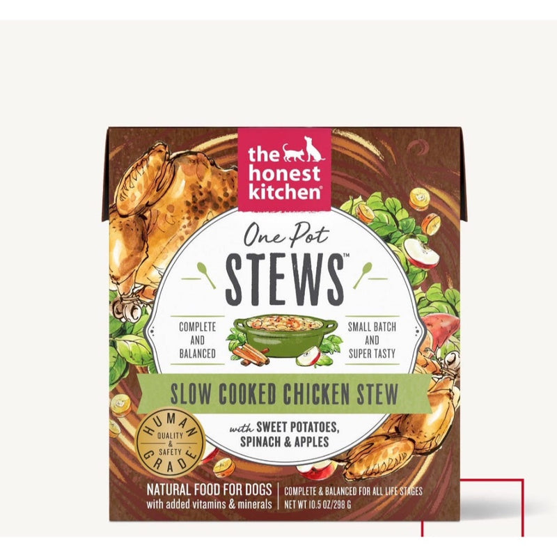 The Honest Kitchen ONE POT STEWS - SLOW COOKED CHICKEN WITH SWEET POTATO, SPINACH & APPLES