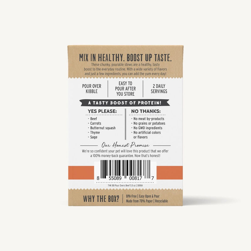 The Honest Kitchen BONE BROTH POUR OVERS - BEEF
