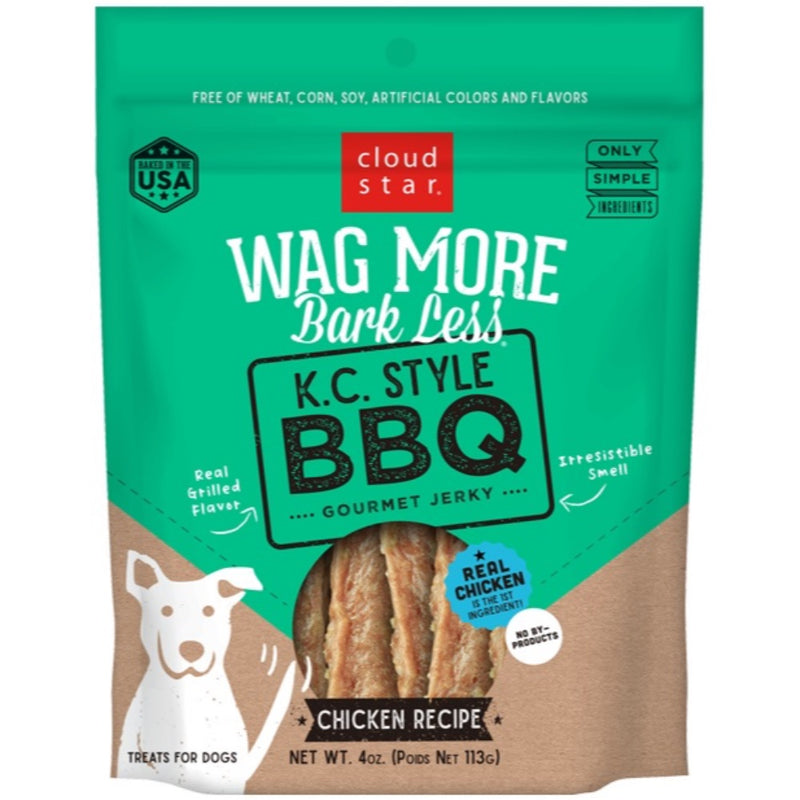 Cloud Star Wag More Bark Less BBQ Style Jerky- Chicken 10oz