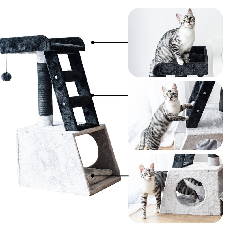 Petpals Catry Grey and White Ladder Cat Tree UNASSEMBLED