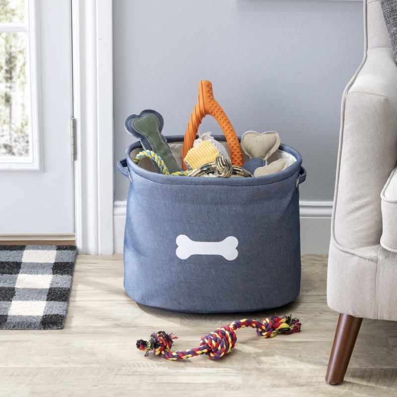 Park Life Designs CAPRI BLUE PET TOY STORAGE