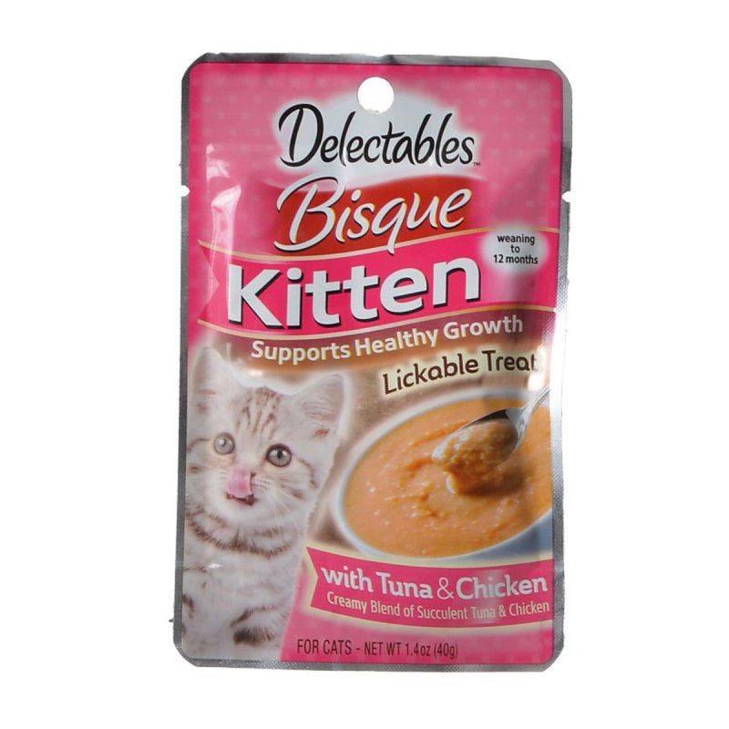 Delectables Bisque Kitten Lickable Treats with Chicken & Tuna