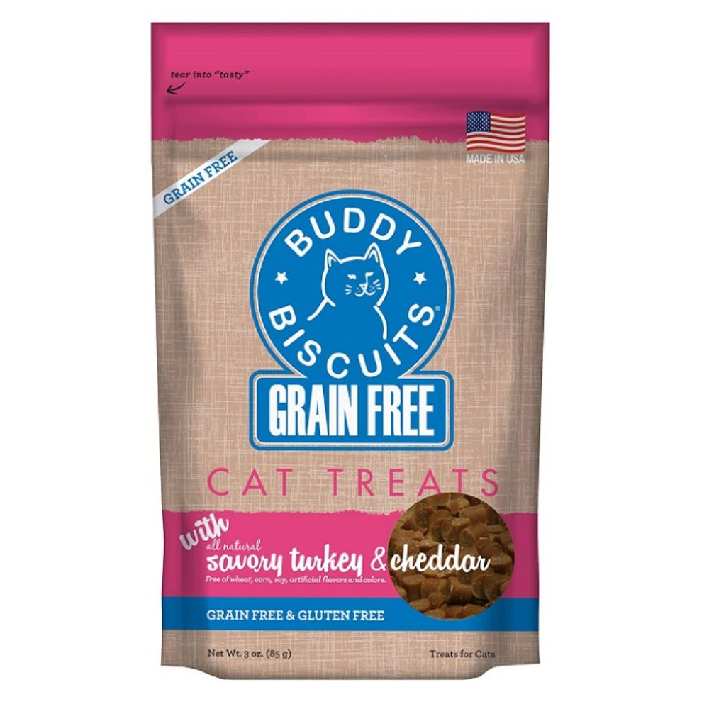 Buddy Biscuits® Grain Free Cat Treats- Savory Turkey & Cheddar