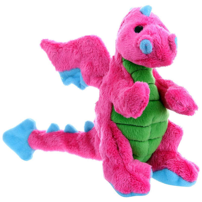 GoDog Dragons Chew Guard Squeaky Plush Dog Toy
