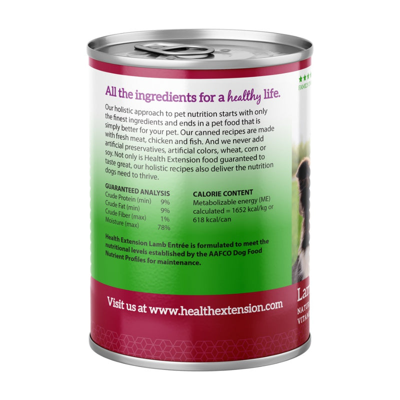 Health Extension Canned Dog Food Lamb Entree