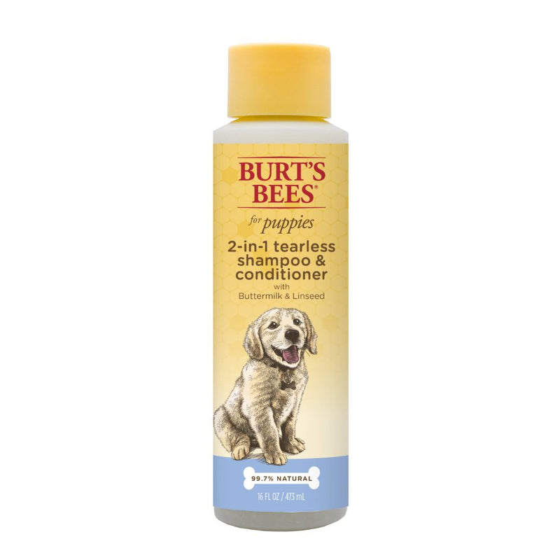 Burt's Bees™ 2-in-1 Shampoo and Conditioner for Puppies with Buttermilk & Linseed Oil, 16 Ounces