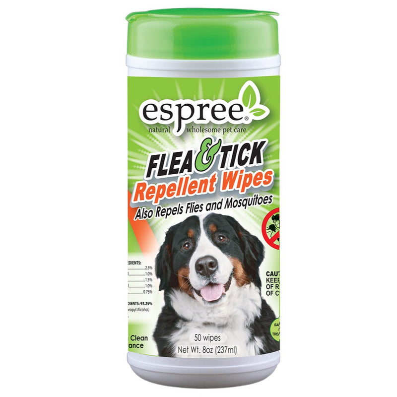 Espree Flea & Tick Repellent Wipes for Dogs, 50ct