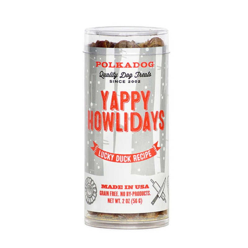 Polkadog Yappy Howliday Sfizis - Lucky Duck 2oz Tubes