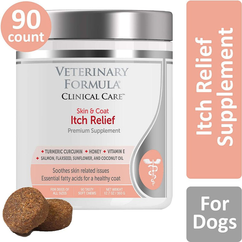 Veterinary Formula Clinical Care Premium Dog Supplement, Skin & Coat Itch Relief, 90 Soft Chews