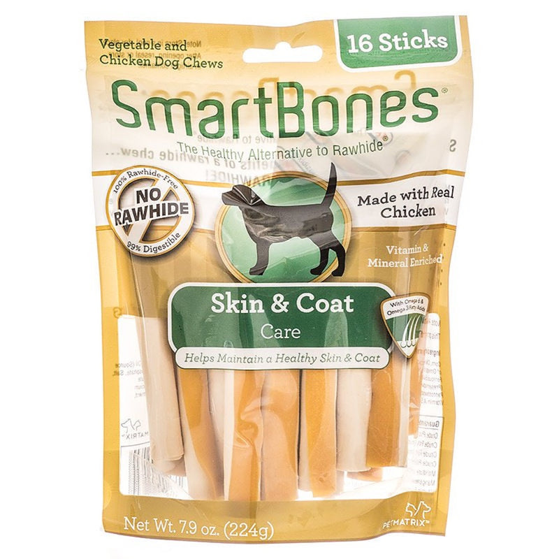 SmartBones Skin and Coat Care Sticks with Chicken