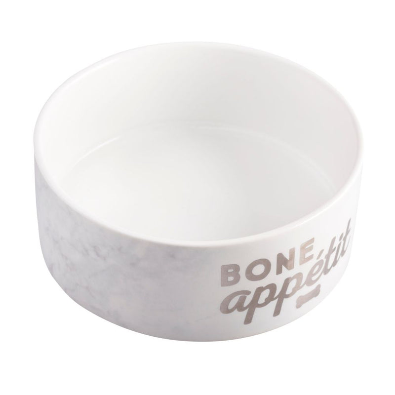 Pearhead Bone Appetite Ceramic Pet Food Bowl