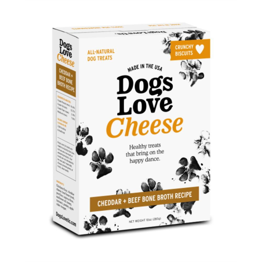 Dogs Love Cheese-Cheddar & Beef Bone Broth Biscuits