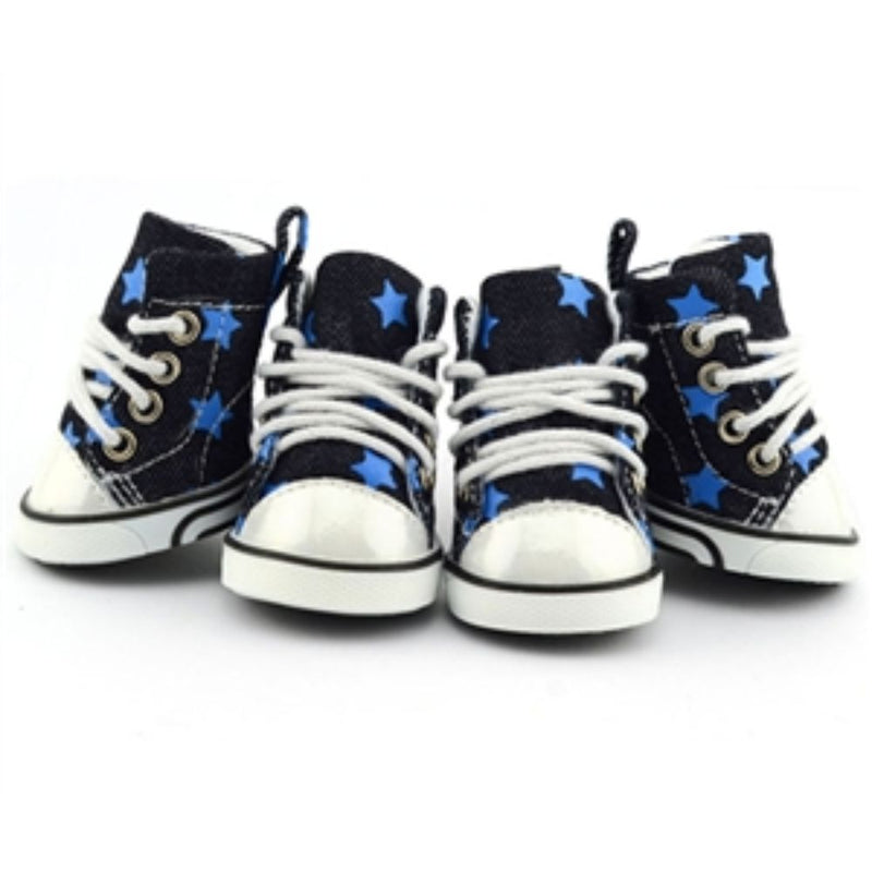 Parisian Pet Denim Blue Stars Converse