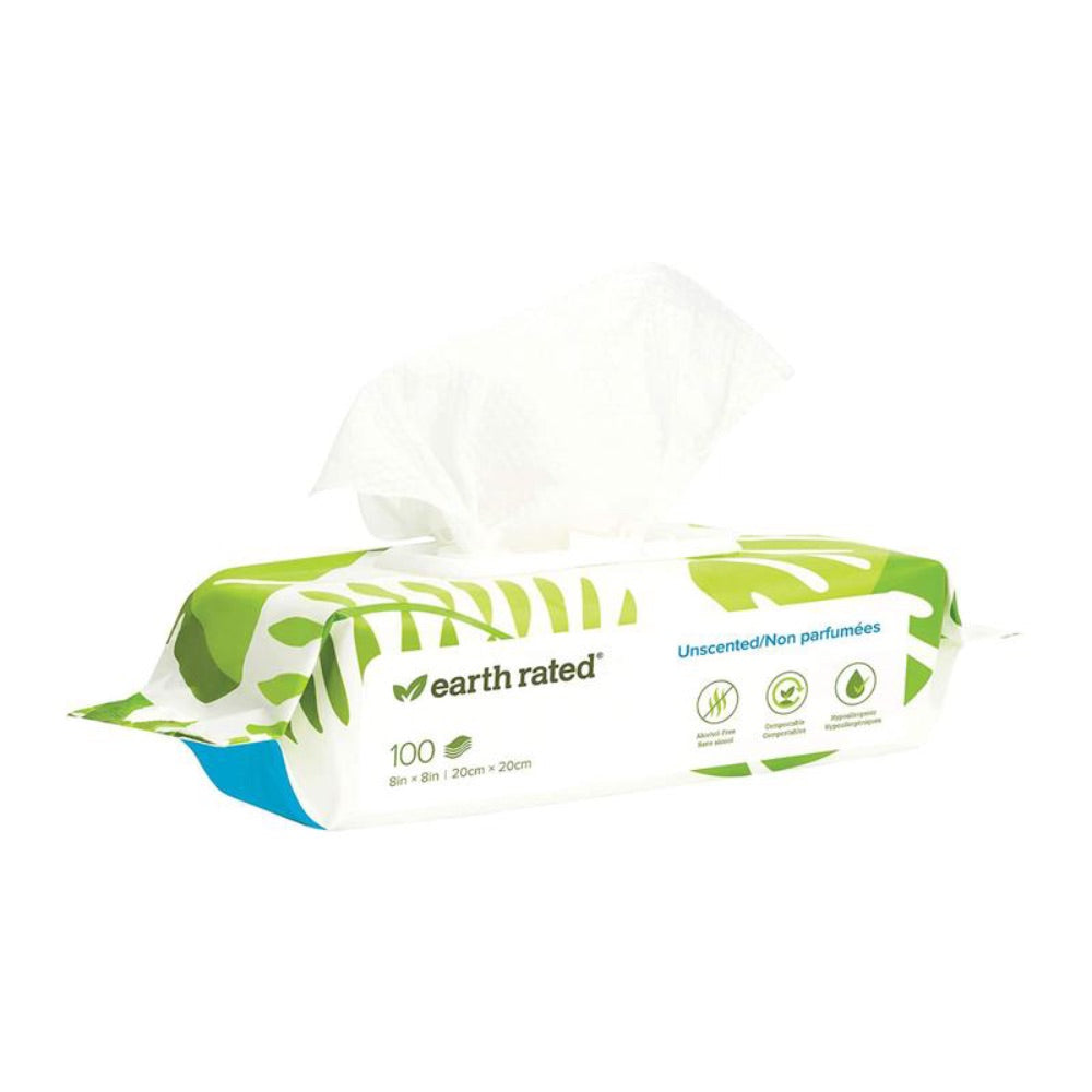 Earth Rated 100 USDA Certified Biobased Wipes- Unscented