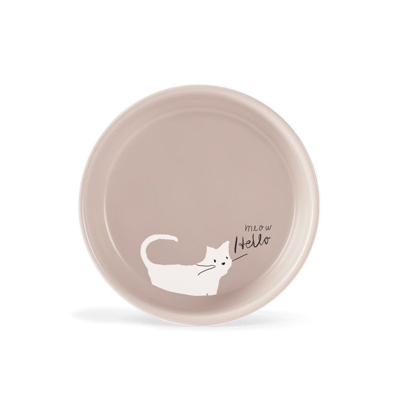 WHISKER CAT MEOW SMALL STONEWARE BOWL