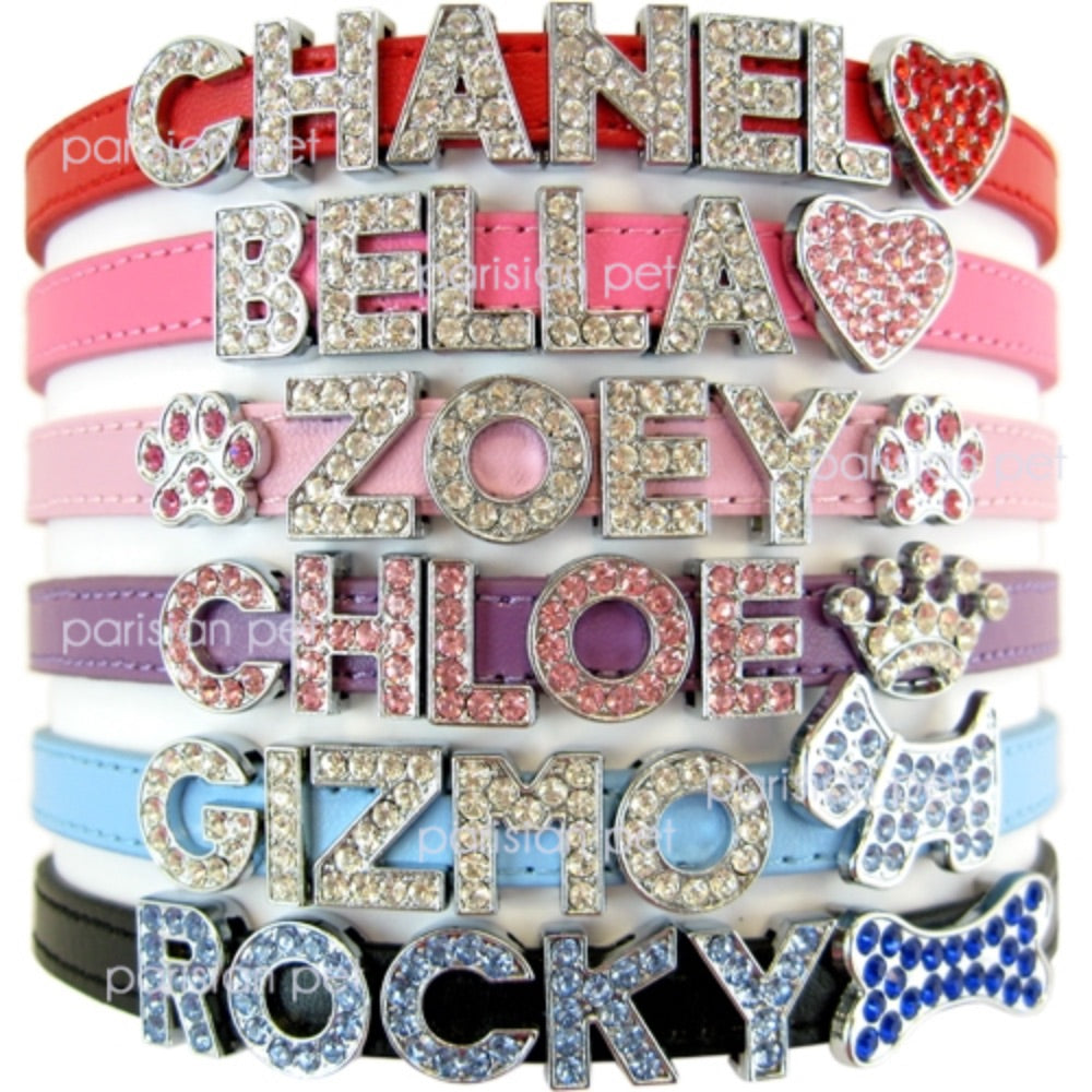 Parisian Pet Rhinestone Letters For Personalized Collars
