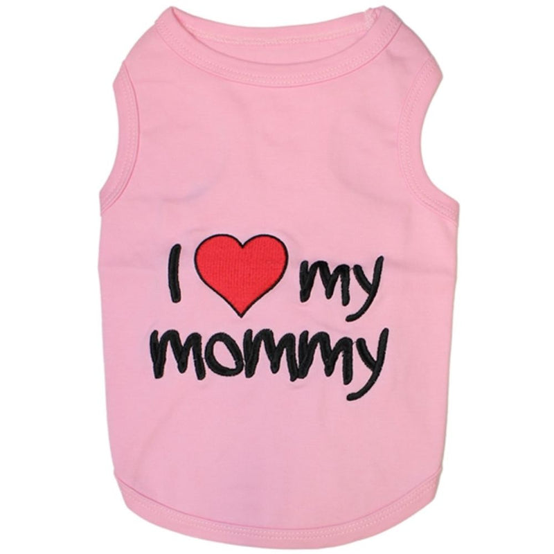 Parisian Pet I Love My Mommy Tee Pink