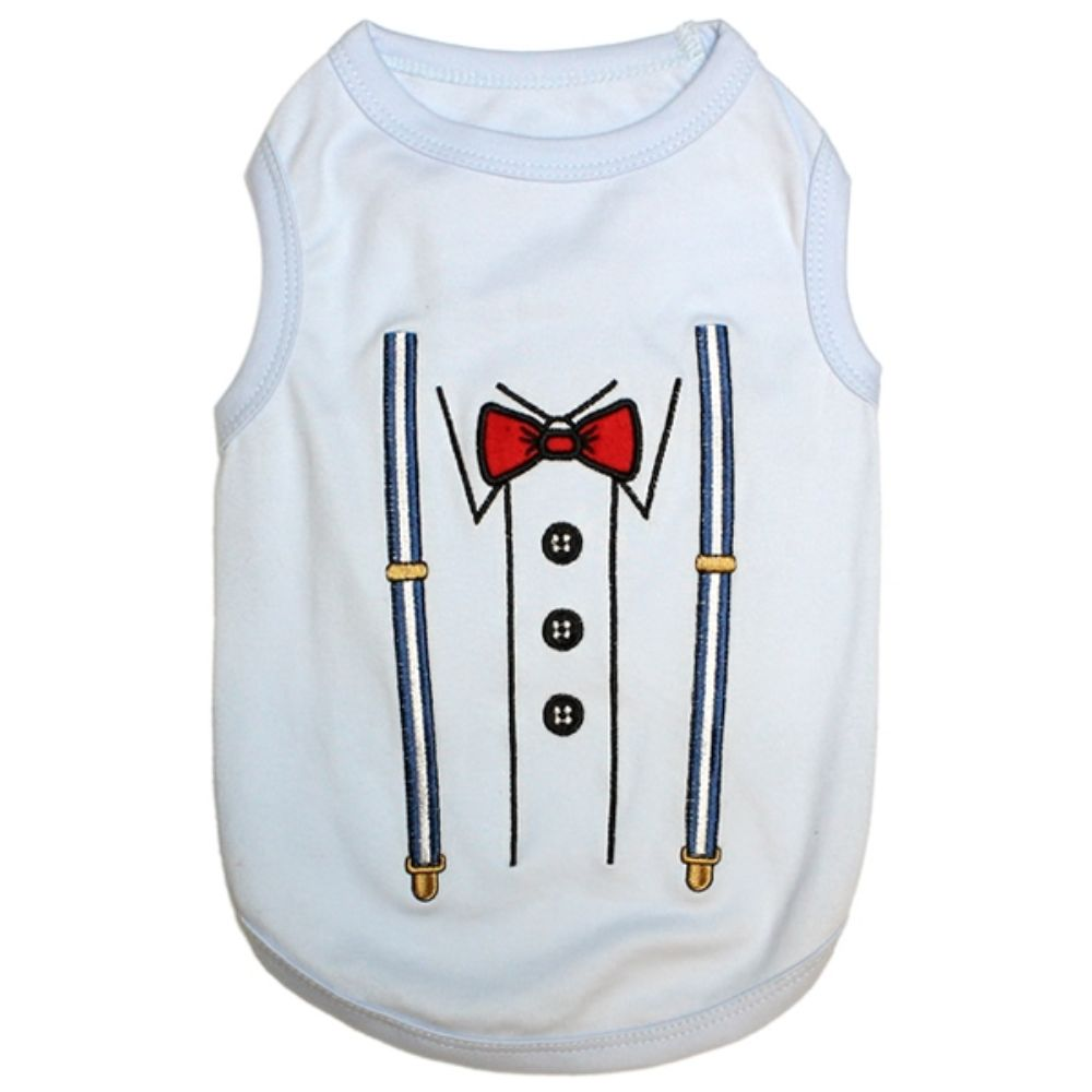 Parisian Pet Suspenders Tee