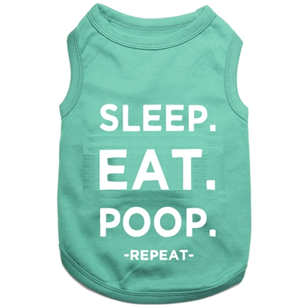 Parisian Pet Sleep Eat Poop Tee